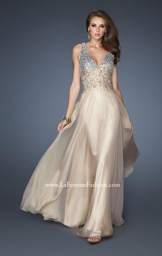Picture of: V Neck Long Prom Dress with Fully Embellished Bodice, Style: 18631, Detail Picture 1
