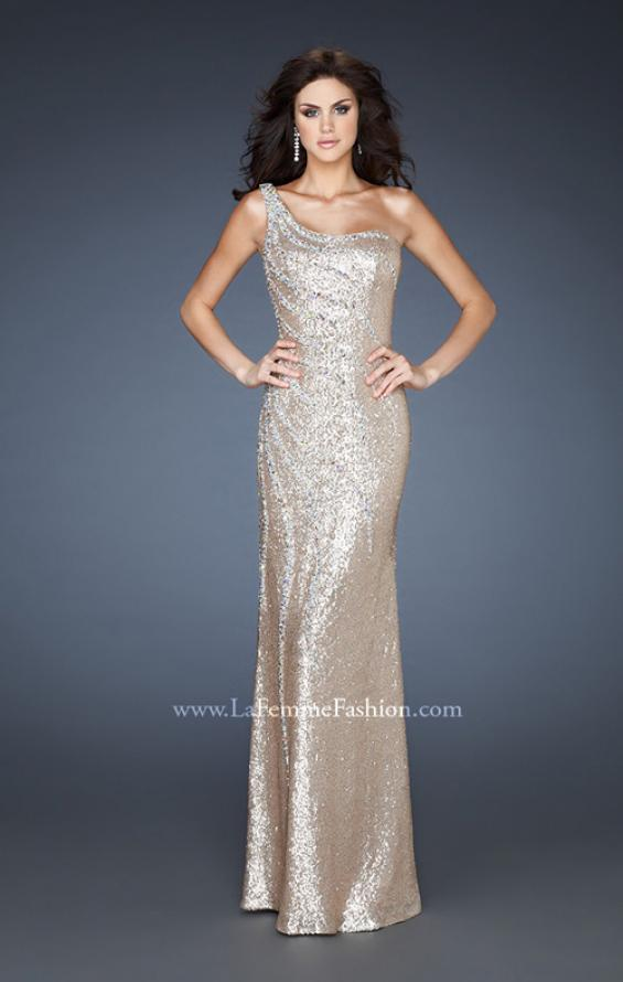 Picture of: One Shoulder Fully Sequined Long Prom Gown, Style: 18634, Main Picture