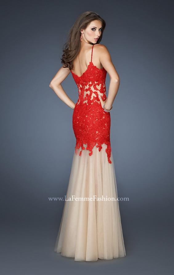 Picture of: Trumpet Style Prom Dress with Neckline and Thin Straps, Style: 18675, Back Picture