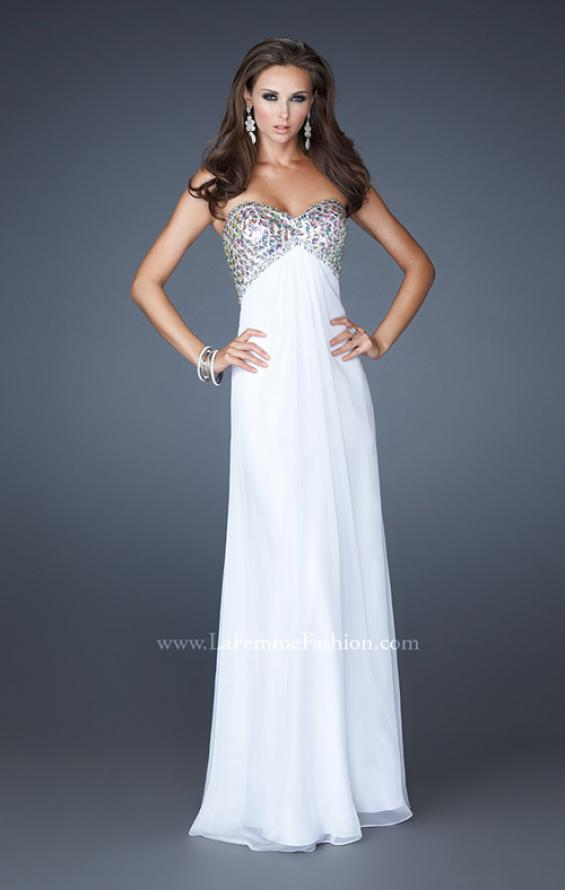 Picture of: Empire Waist Chiffon Dress with Beaded Bodice, Style: 18695, Detail Picture 3