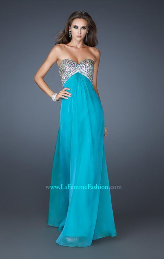 Picture of: Empire Waist Chiffon Dress with Beaded Bodice, Style: 18695, Detail Picture 4