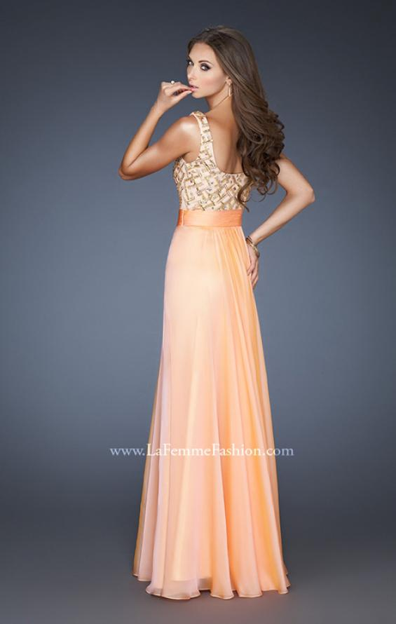 Picture of: A-line Chiffon Prom Dress with Scoop Back and Stones, Style: 18701, Back Picture