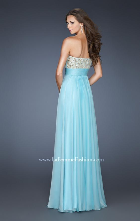 Picture of: A-line Prom Dress with Embroidered and Beaded Bodice, Style: 18704, Back Picture