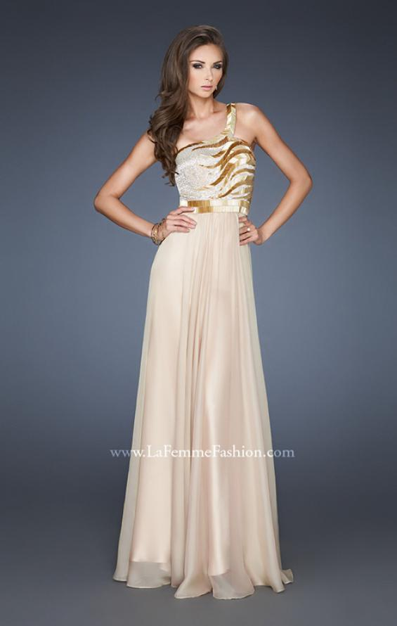 Picture of: Beaded Bodice Long Prom Dress with Open Back, Style: 18743, Main Picture