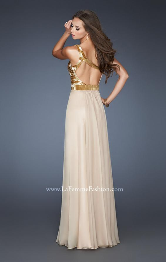 Picture of: Beaded Bodice Long Prom Dress with Open Back, Style: 18743, Back Picture