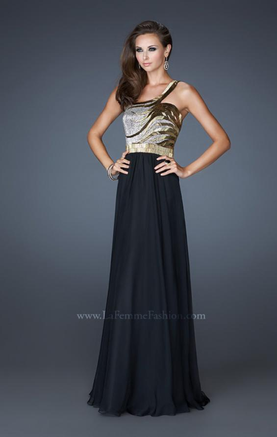 Picture of: Beaded Bodice Long Prom Dress with Open Back, Style: 18743, Detail Picture 1