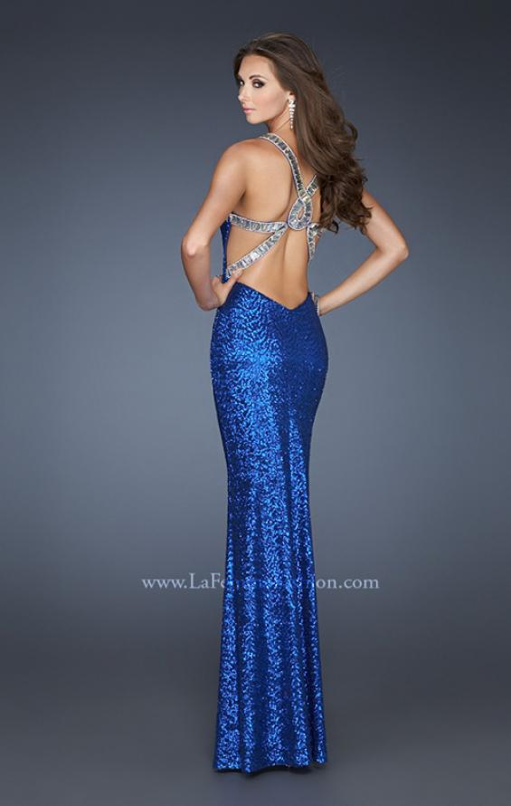 Picture of: Long Sequin Dress with Cut Out Back and Beading, Style: 18744, Main Picture