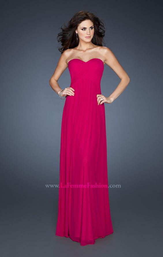 Picture of: Empire Waist Dress with Criss Cross Sweetheart Neckline in Pink, Style: 18752, Main Picture