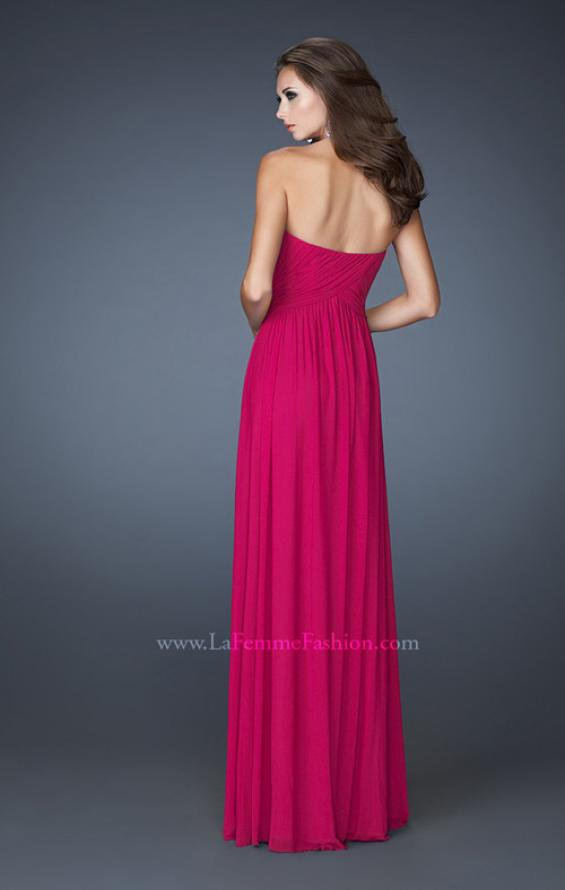 Picture of: Empire Waist Dress with Criss Cross Sweetheart Neckline in Pink, Style: 18752, Back Picture