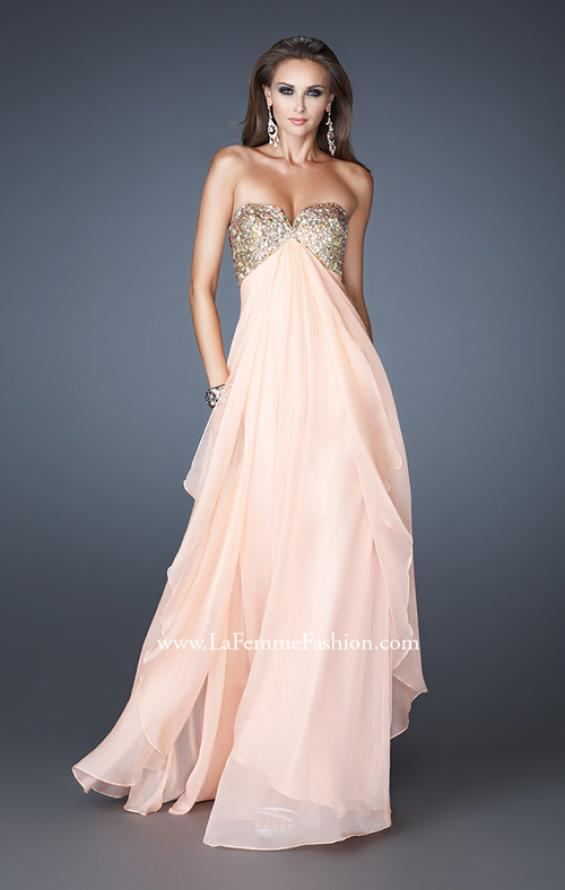 Picture of: Flirty Prom Dress with Sequins and Rhinestone Detail in Pink, Style: 18774, Detail Picture 2