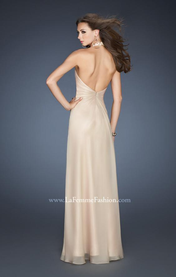 Picture of: A-line Chiffon Gown with Beaded One Shoulder Strap, Style: 18795, Back Picture