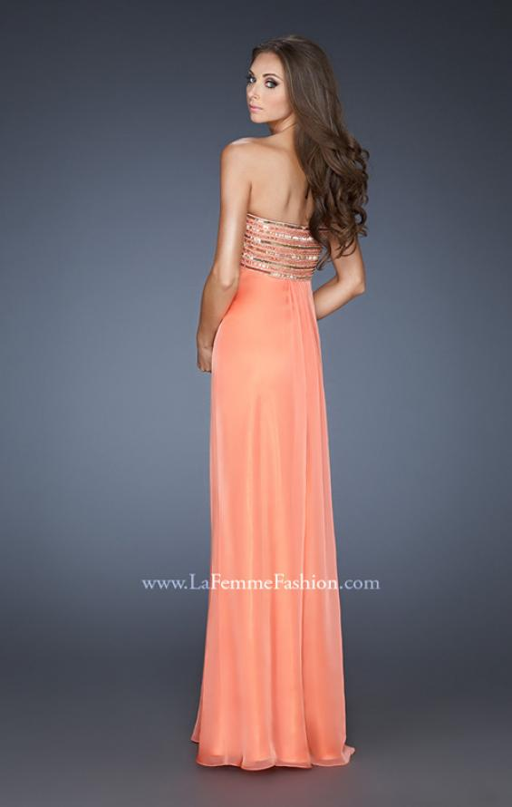 Picture of: Strapless Chiffon Dress with Gathered Empire Waist, Style: 18797, Back Picture
