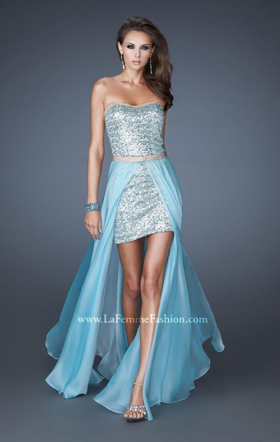 Picture of: Short Strapless Prom Dress with Detachable Chiffon Skirt, Style: 18872, Detail Picture 2