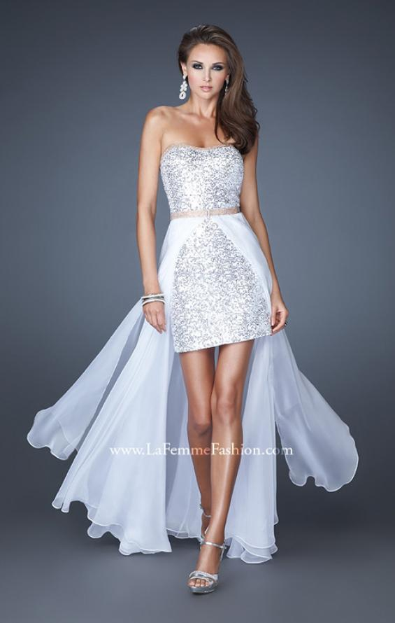 Picture of: Short Strapless Prom Dress with Detachable Chiffon Skirt, Style: 18872, Detail Picture 4