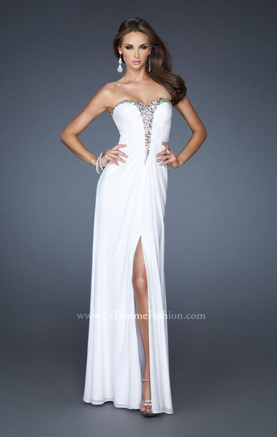 Picture of: Strapless Prom Dress with Beaded Detail and Strappy Back, Style: 18934, Main Picture