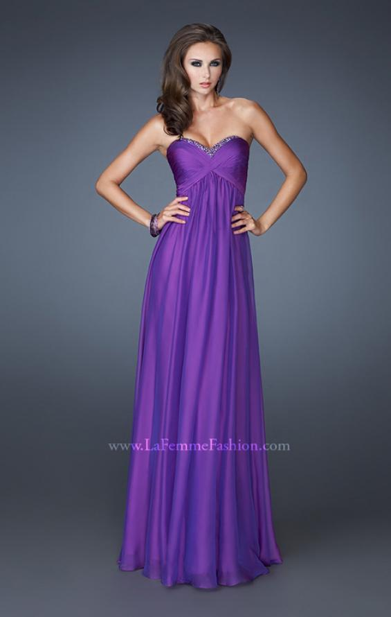 Picture of: Strapless Long Chiffon Prom Dress with Beaded Trim Detail, Style: 18935, Detail Picture 2