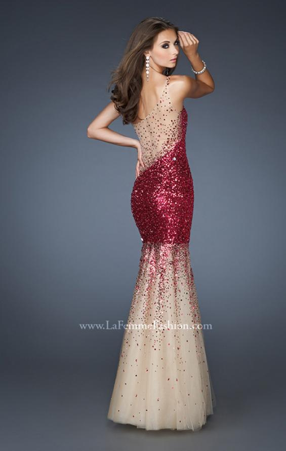 Picture of: One Shoulder Sequin Mermaid Prom Dress with Tulle Skirt, Style: 18936, Main Picture