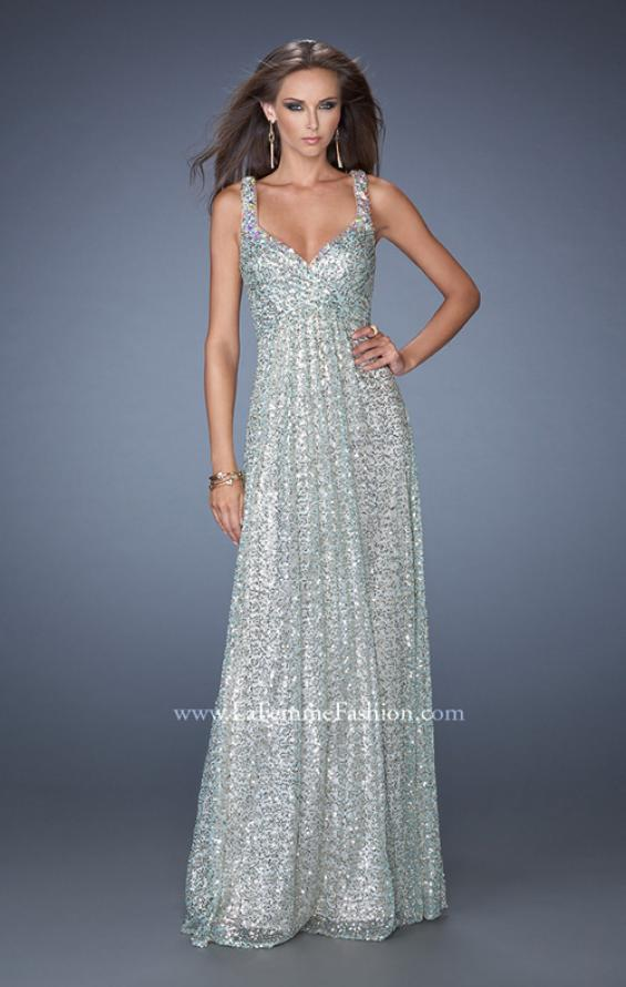 Picture of: Long A-line Sequin Prom Dress with Strappy Back, Style: 19154, Main Picture