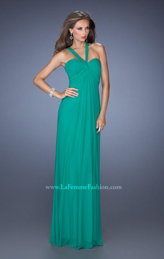 Picture of: Long Jersey Prom Dress with Halter Straps, Style: 19348, Detail Picture 1