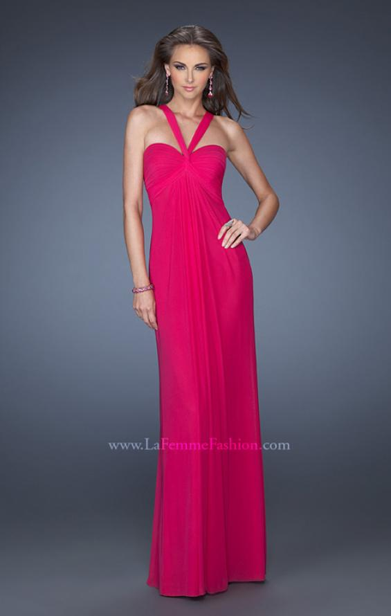 Picture of: Long Jersey Prom Dress with Halter Straps, Style: 19348, Detail Picture 2