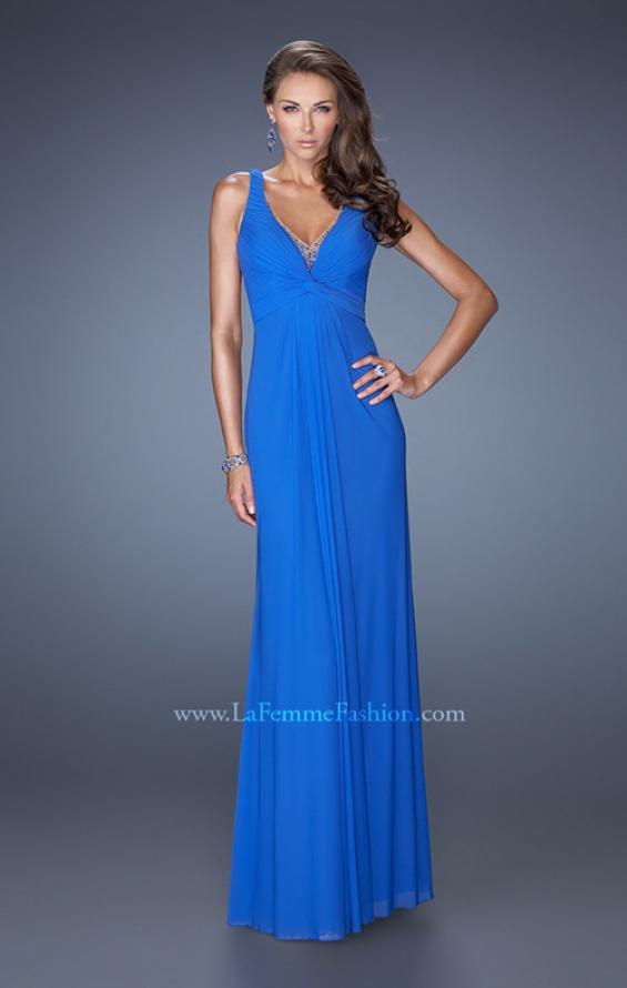 Picture of: Long Jersey Prom Gown with Embellished Illusion Neckline, Style: 19531, Detail Picture 2