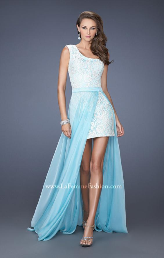 Picture of: One Shoulder Prom Dress with Detachable Skirt, Style: 19700, Main Picture