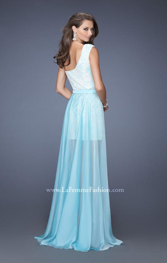 Picture of: One Shoulder Prom Dress with Detachable Skirt, Style: 19700, Back Picture