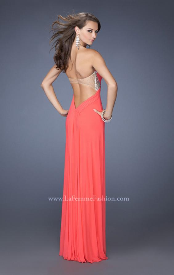 Picture of: Strapless Sweetheart Jersey Prom Dress with Beaded Trim, Style: 19703, Back Picture