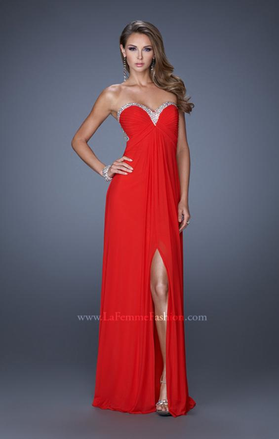 Picture of: Strapless Sweetheart Jersey Prom Dress with Beaded Trim, Style: 19703, Detail Picture 3