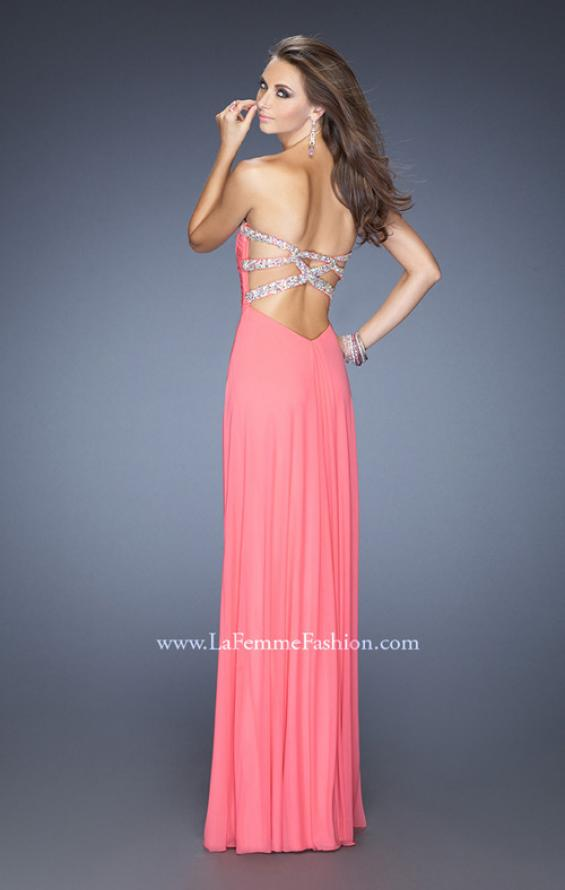 Picture of: Strapless Long Prom Dress with Beaded Trim on the Bodice, Style: 19731, Detail Picture 2