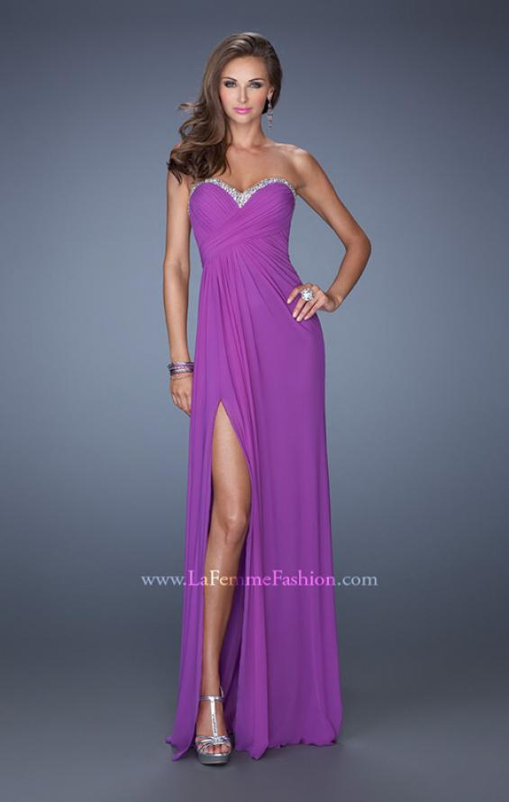 Picture of: Strapless Long Prom Dress with Beaded Trim on the Bodice, Style: 19731, Detail Picture 3