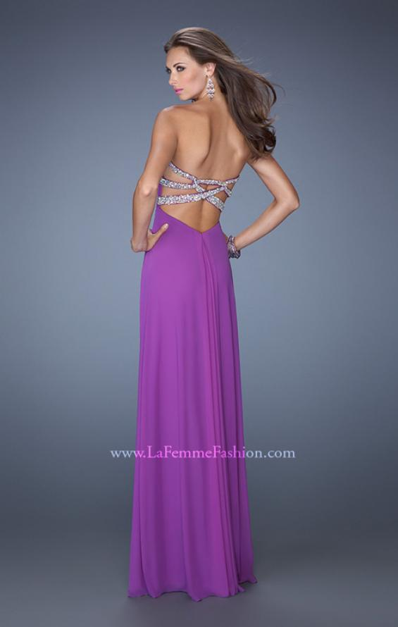 Picture of: Strapless Long Prom Dress with Beaded Trim on the Bodice, Style: 19731, Detail Picture 4