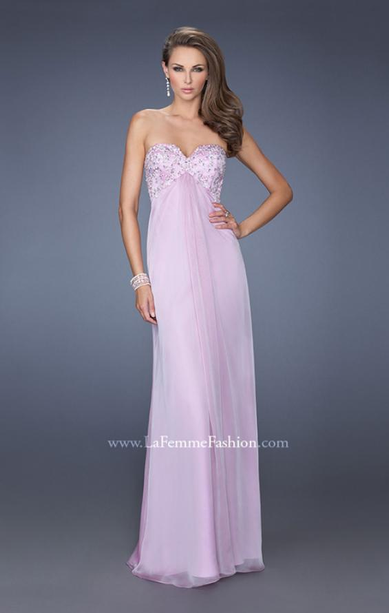 Picture of: Long Strapless Chiffon Prom Dress with Embellished Bodice, Style: 19740, Main Picture