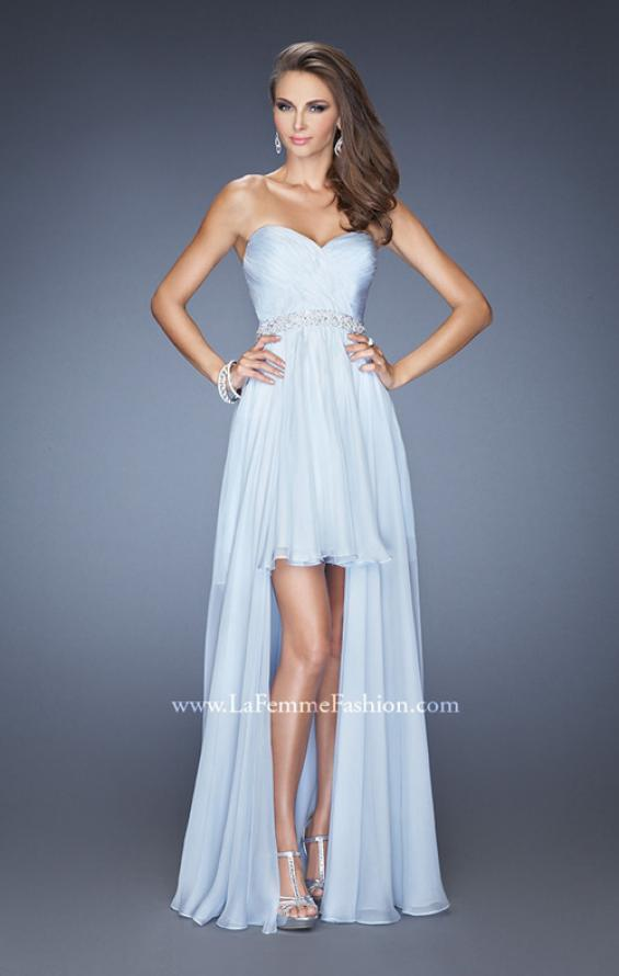 Picture of: High Low Strapless Chiffon Prom Dress with Beaded Details, Style: 19762, Detail Picture 2