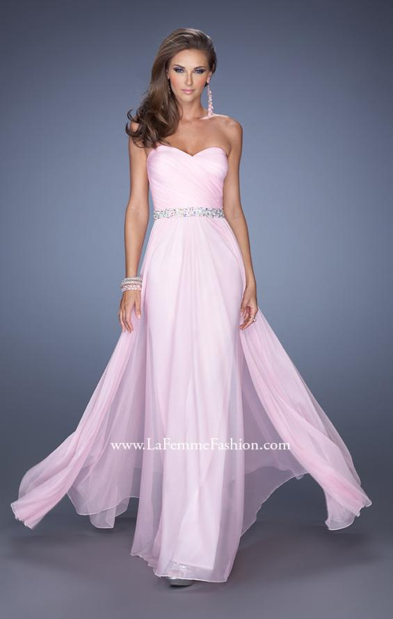 Picture of: Long Strapless Prom Dress with Sweetheart Bodice in Pink, Style: 19796, Main Picture