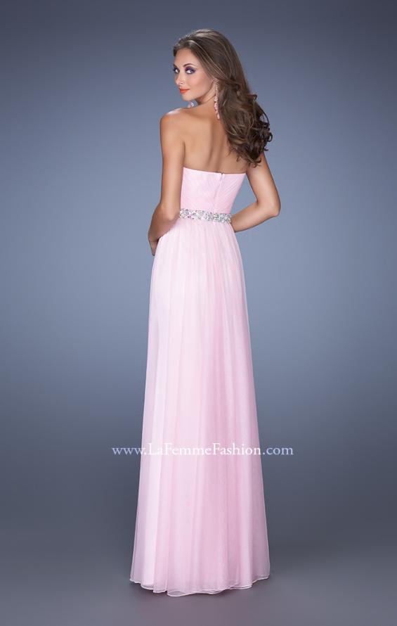 Picture of: Long Strapless Prom Dress with Sweetheart Bodice in Pink, Style: 19796, Back Picture