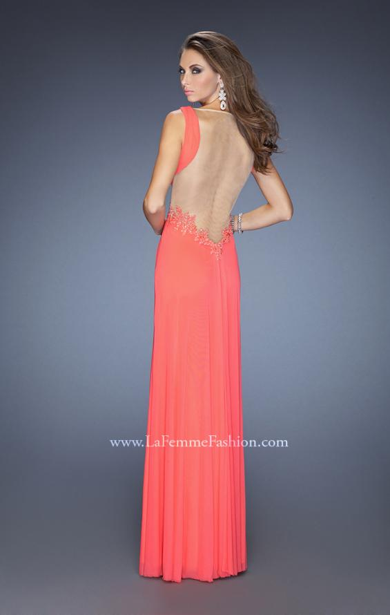 Picture of: Sleeveless Prom Gown with Beaded Lace Accents, Style: 19804, Back Picture