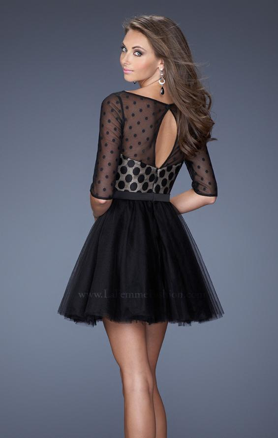 Picture of: Multi Layered Short Homecoming Dress with Polka Dots, Style: 19841, Back Picture