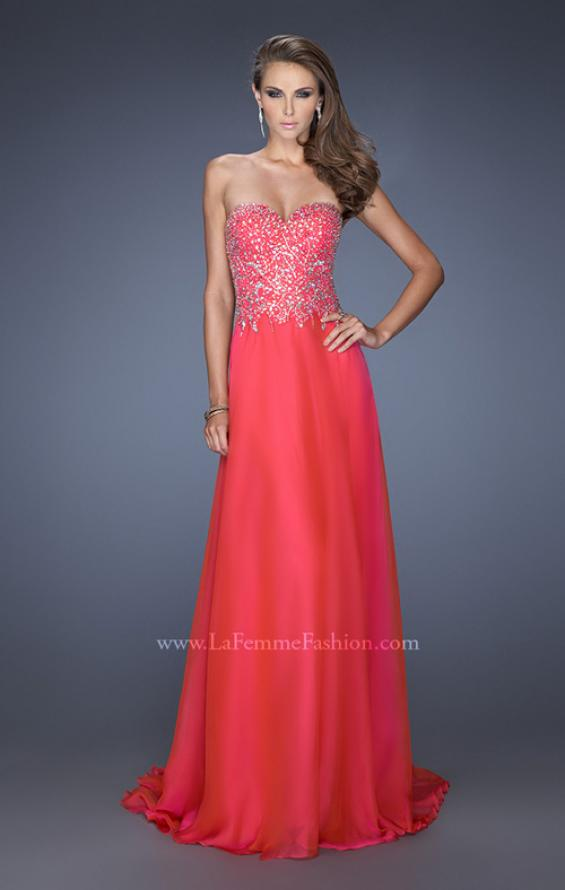 Picture of: Long Sweetheart Neckline Prom Gown with Rhinestones in Pink, Style: 19856, Main Picture