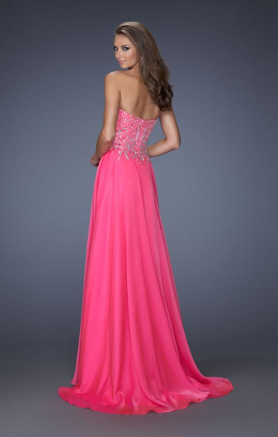 Picture of: Long Sweetheart Neckline Prom Gown with Rhinestones in Pink, Style: 19856, Detail Picture 2