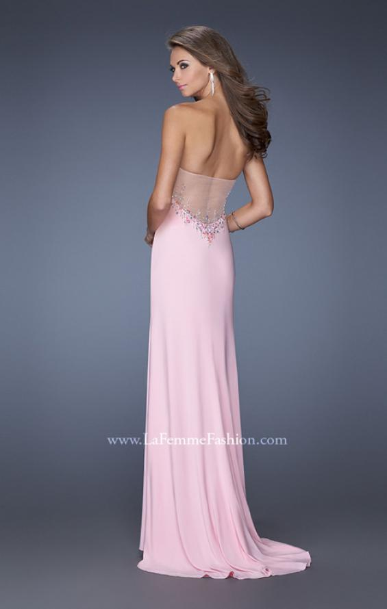 Picture of: Strapless Jersey Prom Dress with Low V Back, Style: 19869, Back Picture