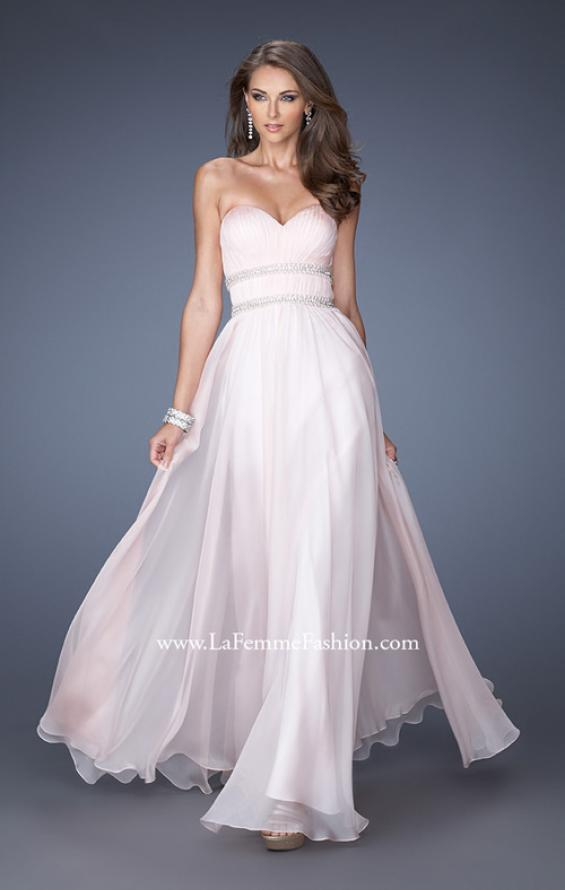 Picture of: Long Strapless Prom Dress with Rhinestone Belts, Style: 19875, Main Picture