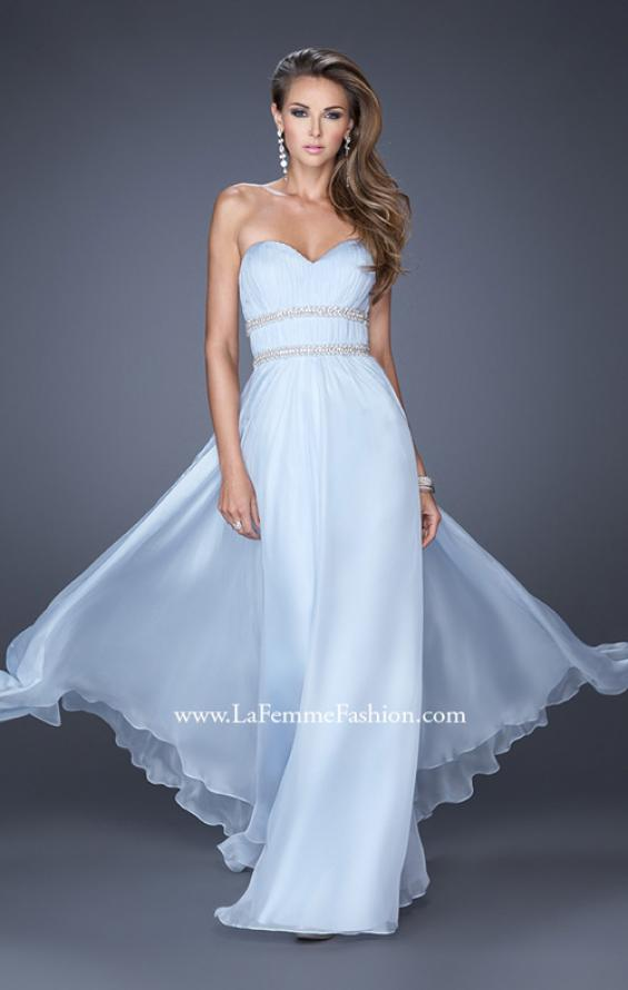 Picture of: Long Strapless Prom Dress with Rhinestone Belts, Style: 19875, Detail Picture 1