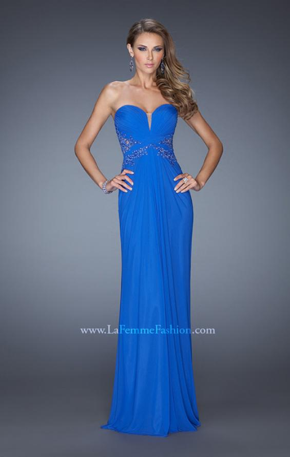 Picture of: Strapless Prom Dress with Jeweled Lace Cut Outs, Style: 19889, Detail Picture 1
