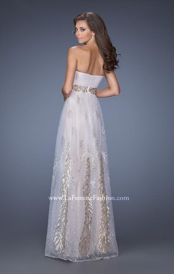 Picture of: Embellished Strapless Prom Gown with Gold Appliques, Style: 19891, Back Picture