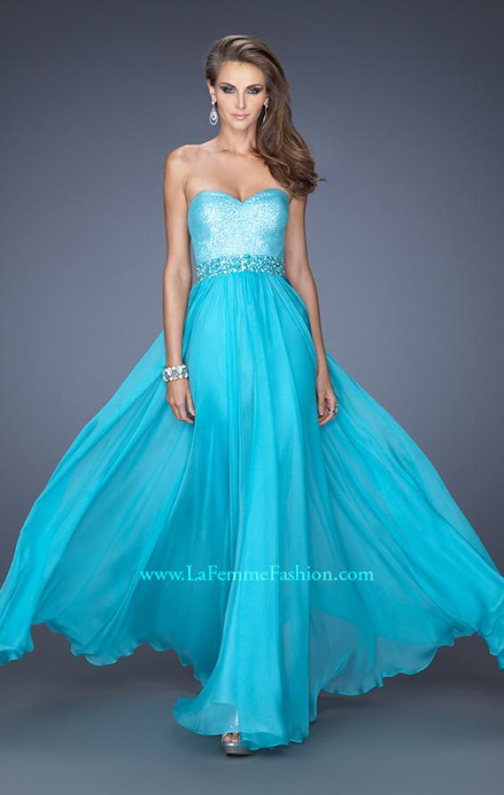 Picture of: Sweetheart Neckline Prom Gown with Sequins and Pearls, Style: 19898, Main Picture