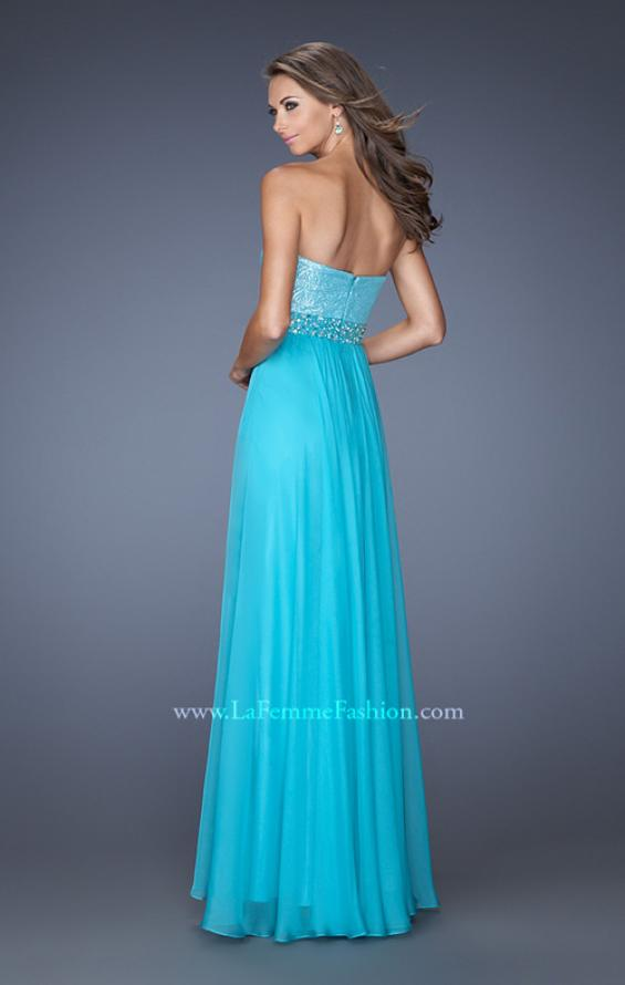 Picture of: Sweetheart Neckline Prom Gown with Sequins and Pearls, Style: 19898, Back Picture