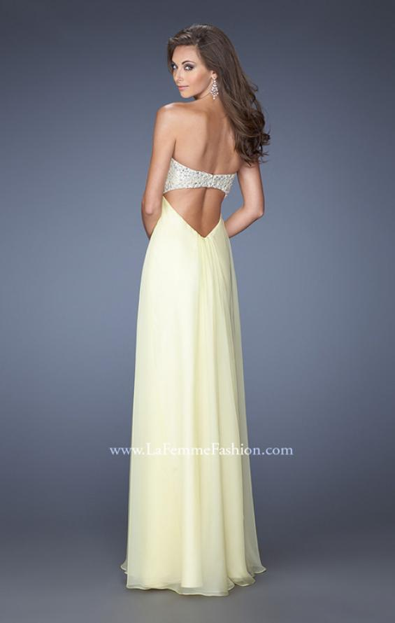 Picture of: Strapless Empire Waist Prom Dress with Pearl Lining, Style: 19902, Back Picture