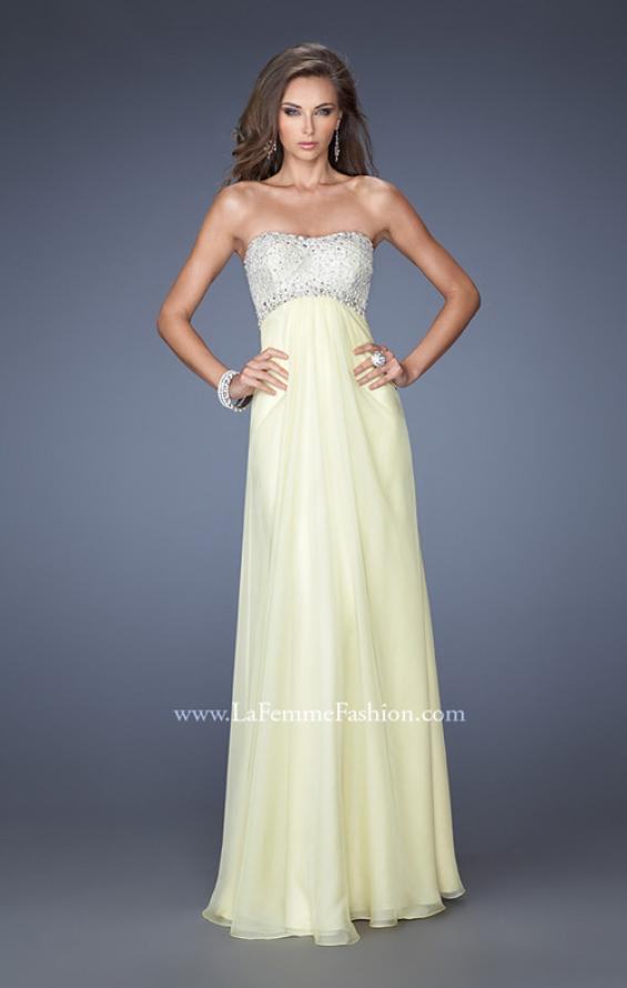 Picture of: Strapless Empire Waist Prom Dress with Pearl Lining, Style: 19902, Detail Picture 1