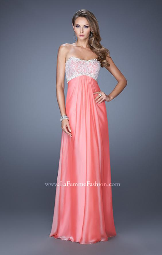 Picture of: Strapless Empire Waist Prom Dress with Pearl Lining, Style: 19902, Detail Picture 2